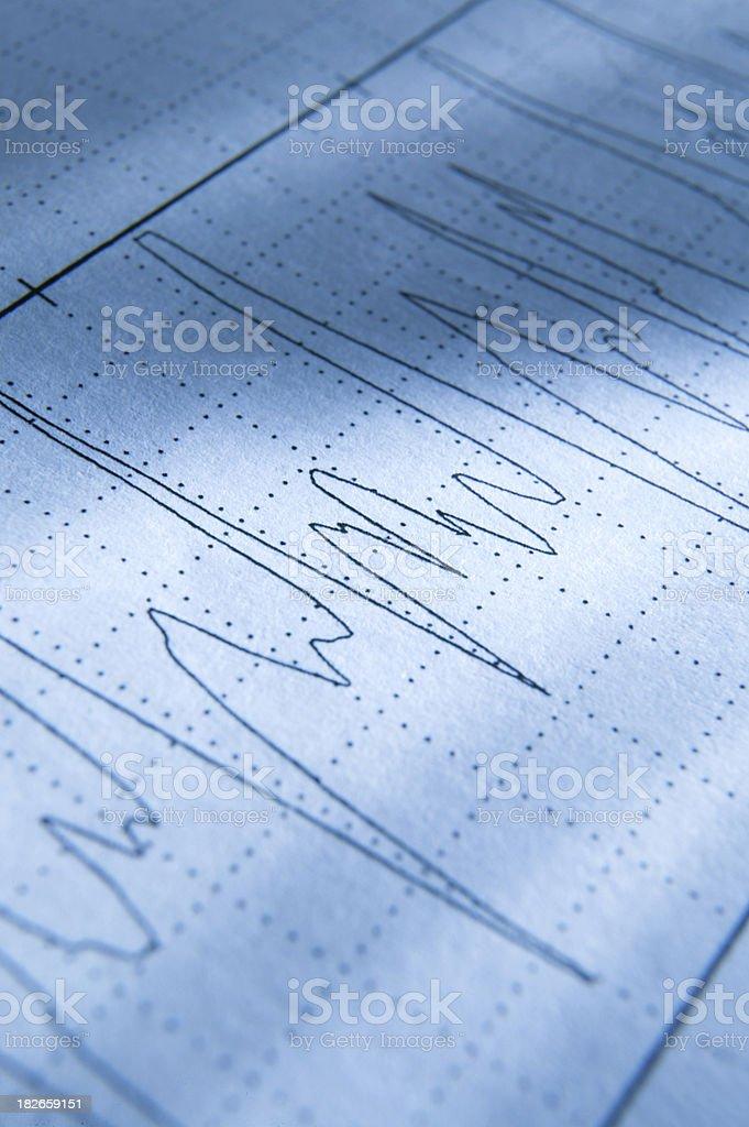 Electrocardiogram 3 royalty-free stock photo