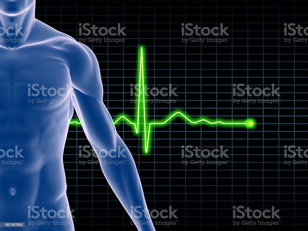 EKG Electrocardiogram royalty-free stock photo