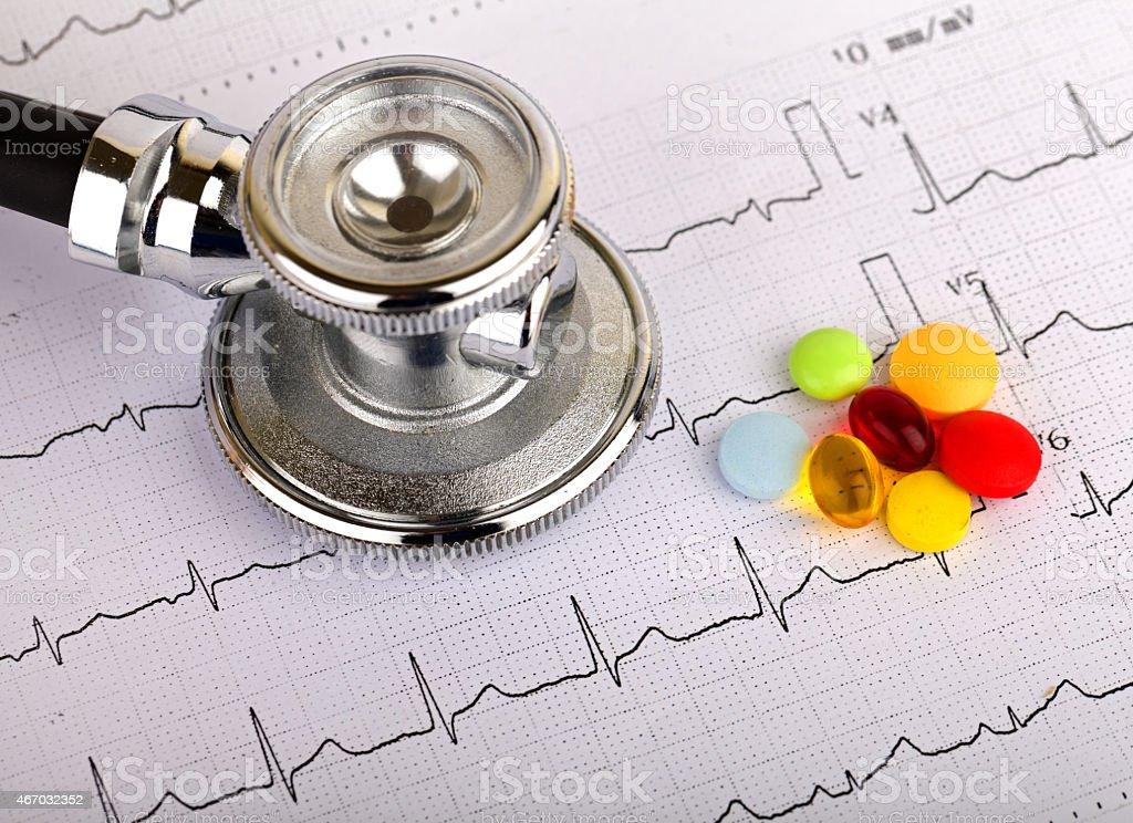 Electrocardiogram stock photo