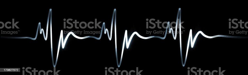 Electrocardiogram. XXXL stock photo