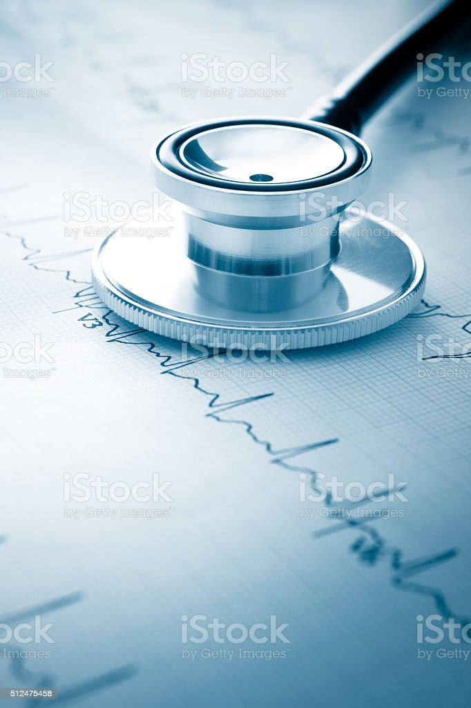 Electrocardiograph stock photo