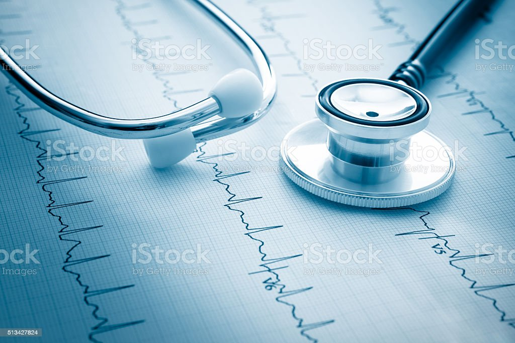 Electrocardiograph stock photo