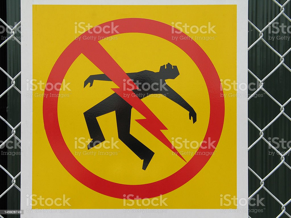electrocution sign royalty-free stock photo