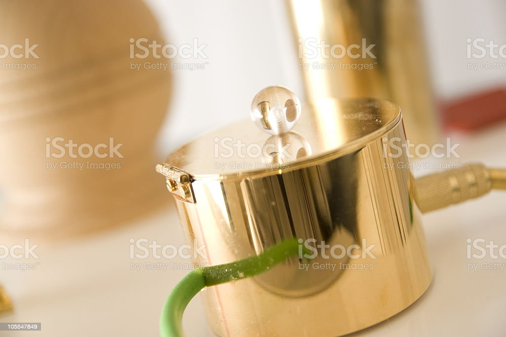 Electrode for bioresonance therapy royalty-free stock photo