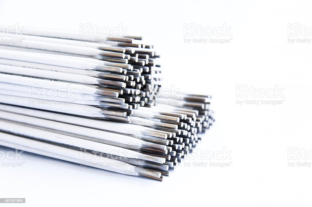 Electrode welding rod for welder stock photo