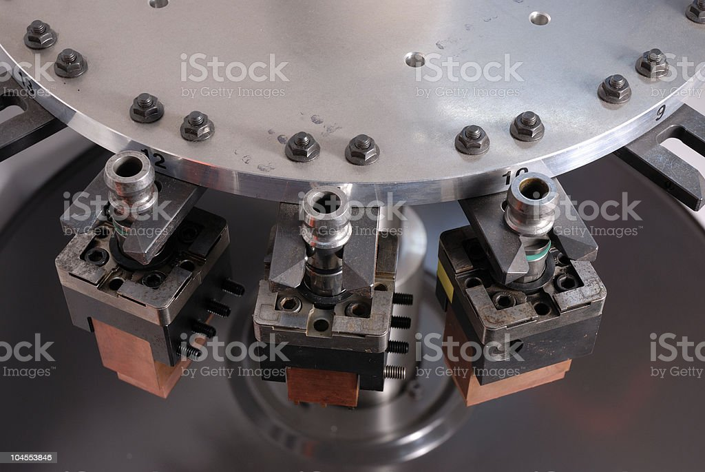 Electrodes on a CNC machine royalty-free stock photo