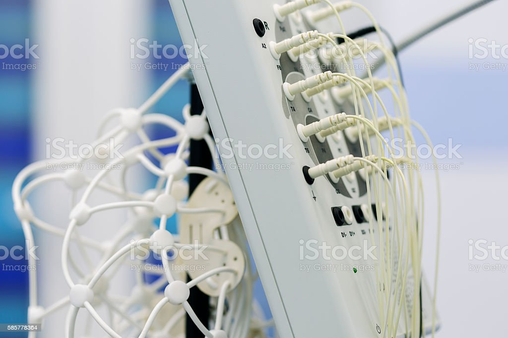 Electroencephalograph stock photo