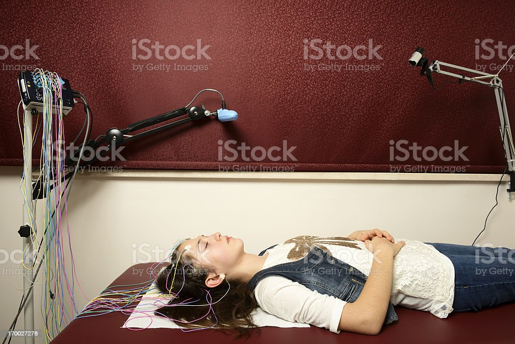 Electroencephalography royalty-free stock photo