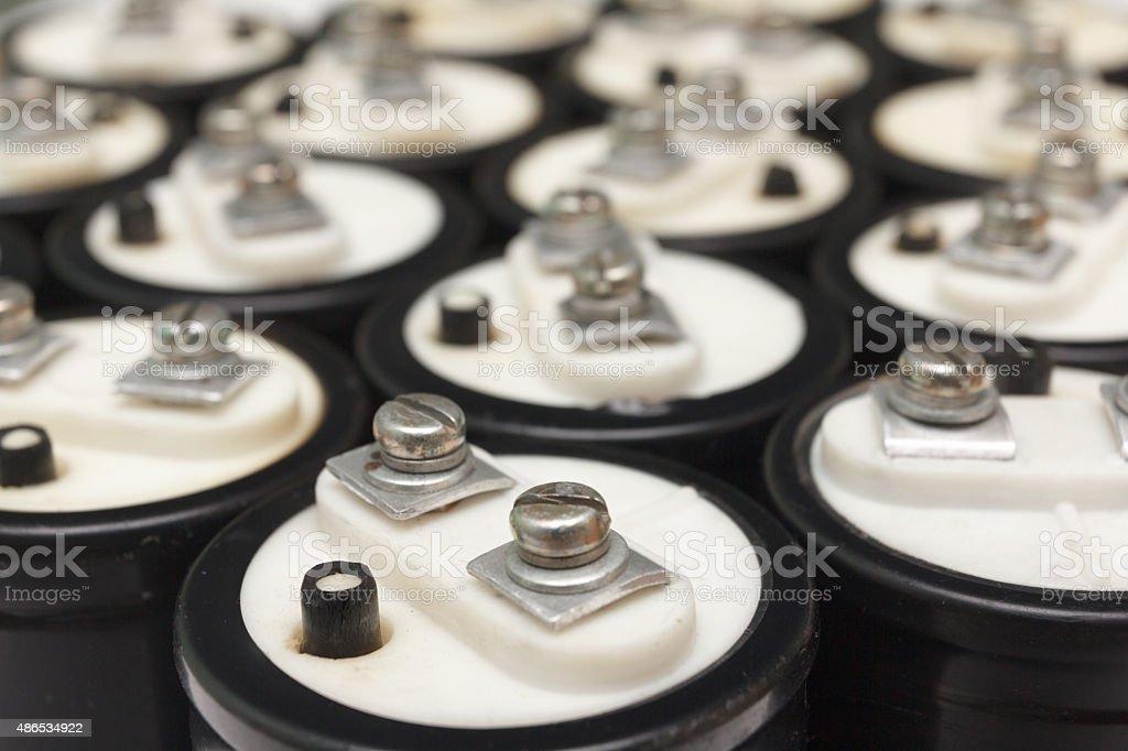 Electrolytic capacitor stock photo