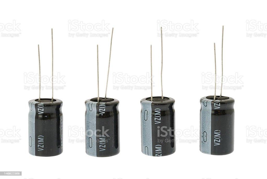 electrolytic capacitors stock photo