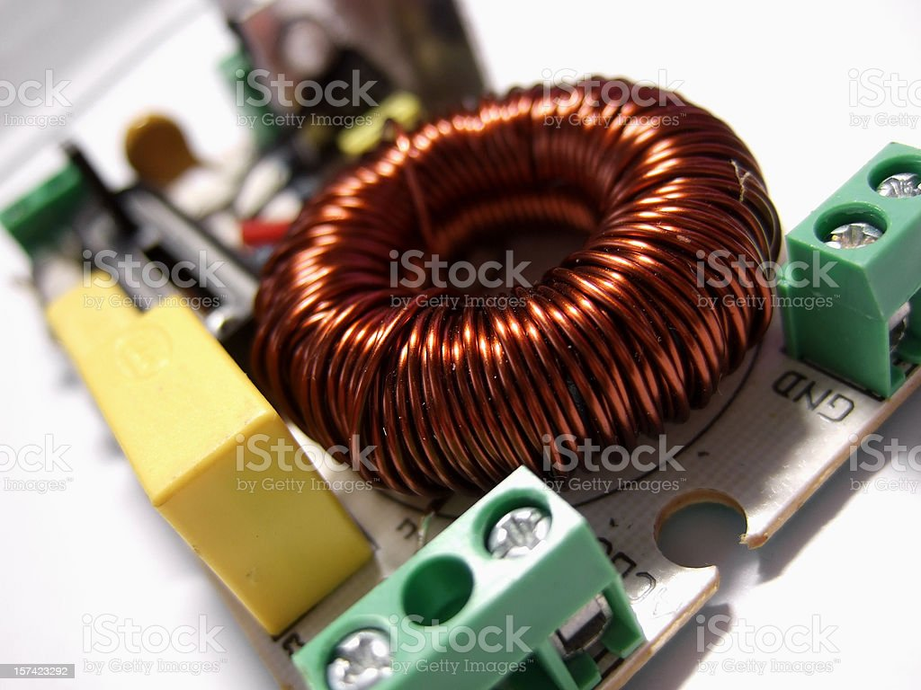 electromagnetic coil stock photo
