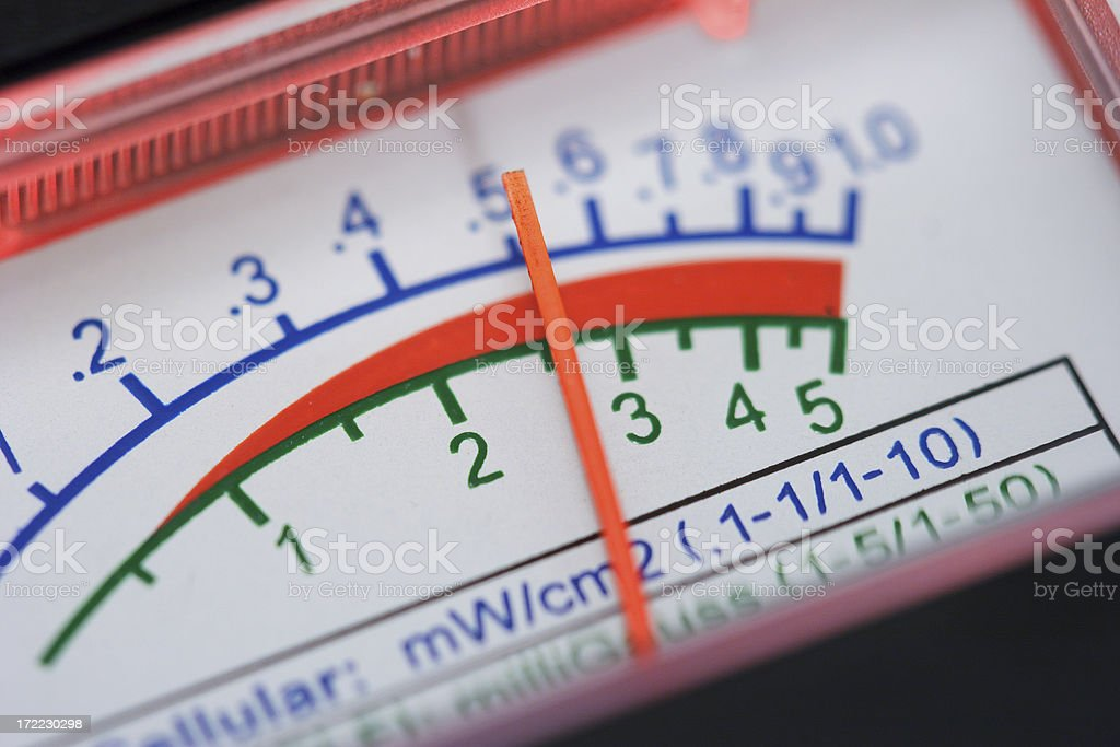 Electromagnetic field meter stock photo