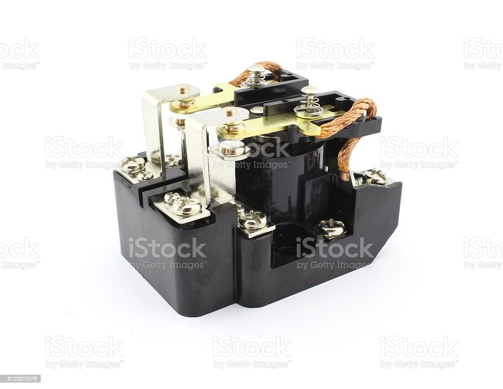 Electromagnetic relay stock photo