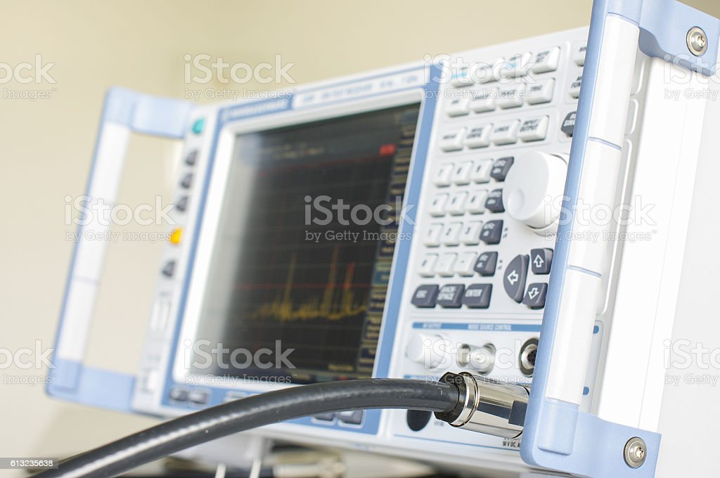 Electromagnetic test receiver close up stock photo