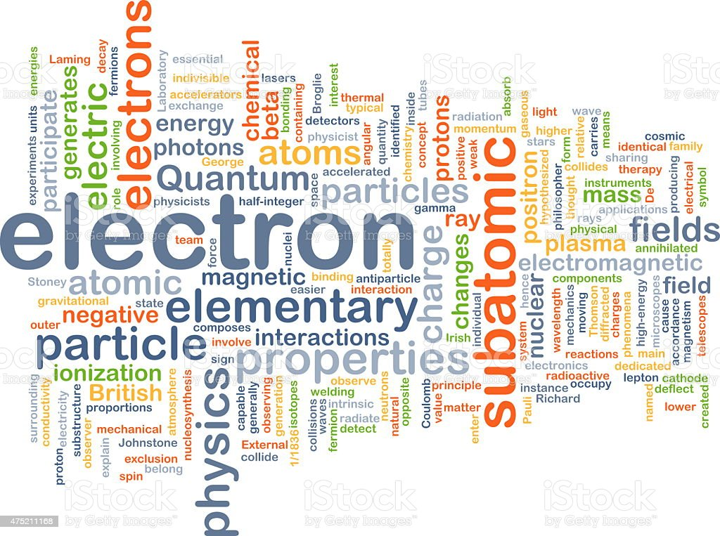Electron background concept stock photo