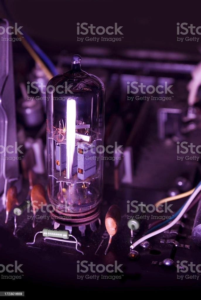 Electron tube, valve, lamp stock photo