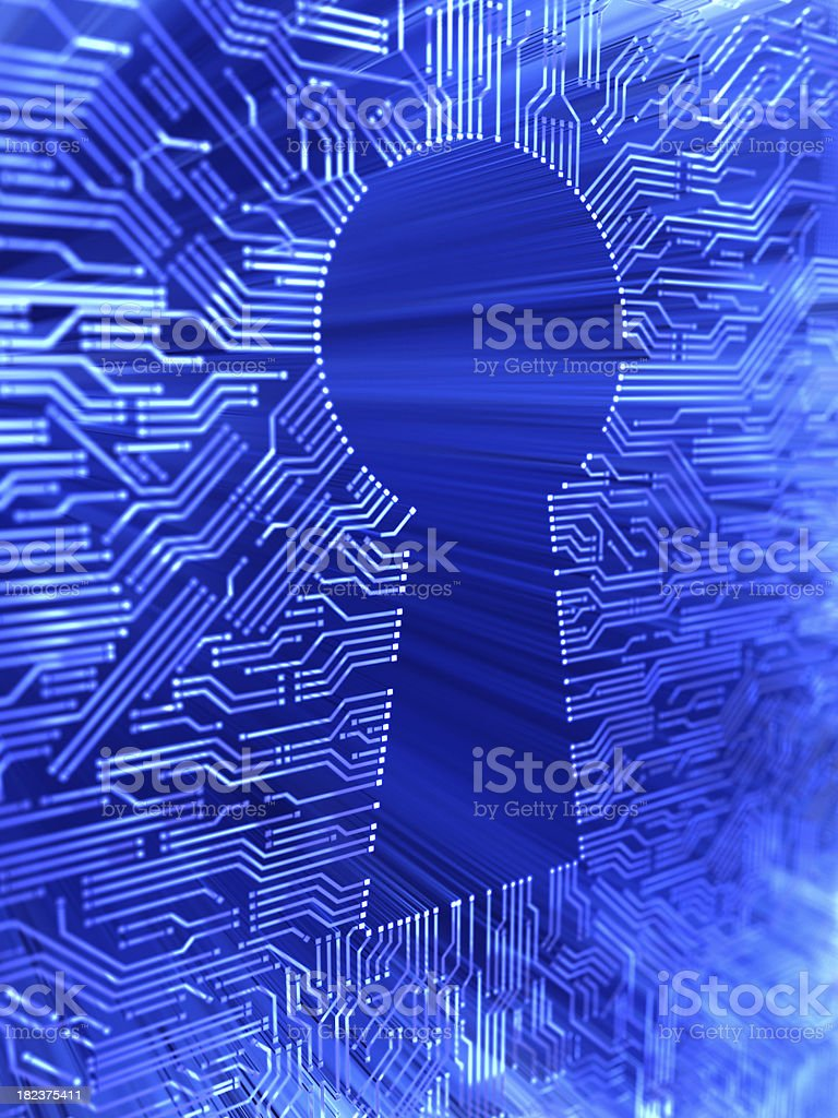 electronic access royalty-free stock photo