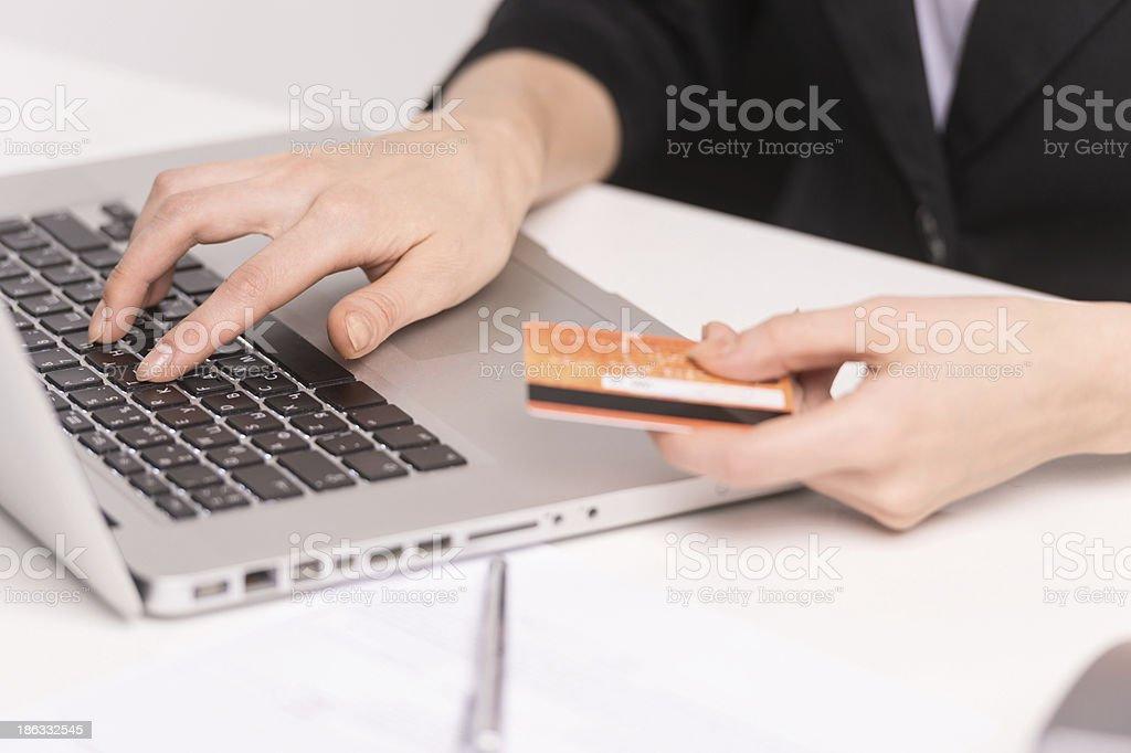 Electronic banking. stock photo