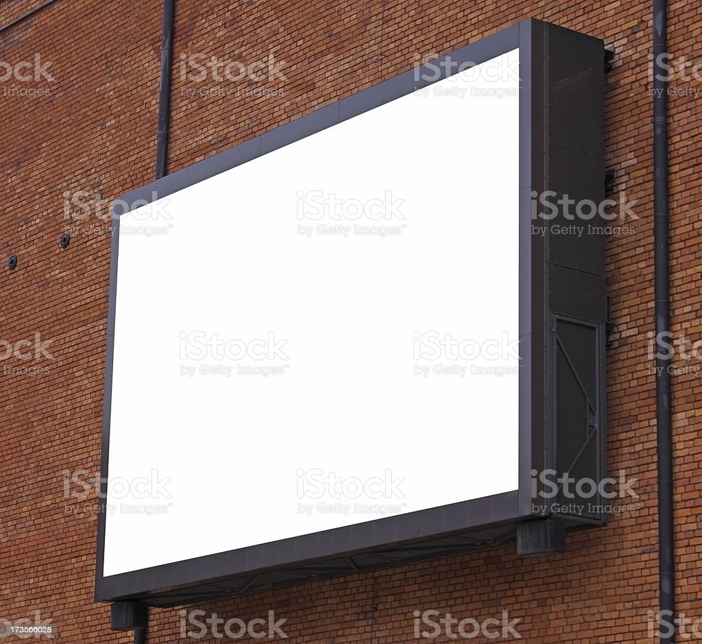 Electronic billboard royalty-free stock photo