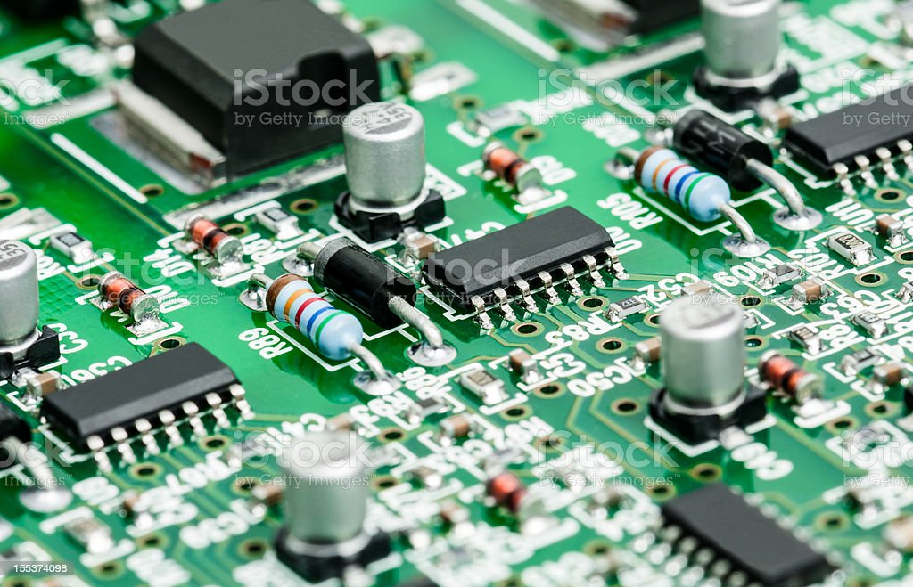 Electronic Board detail stock photo