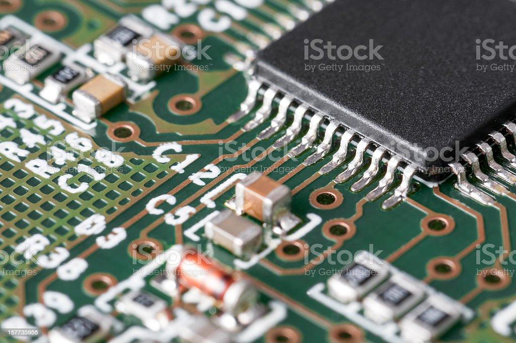 Electronic Board detail stock photo