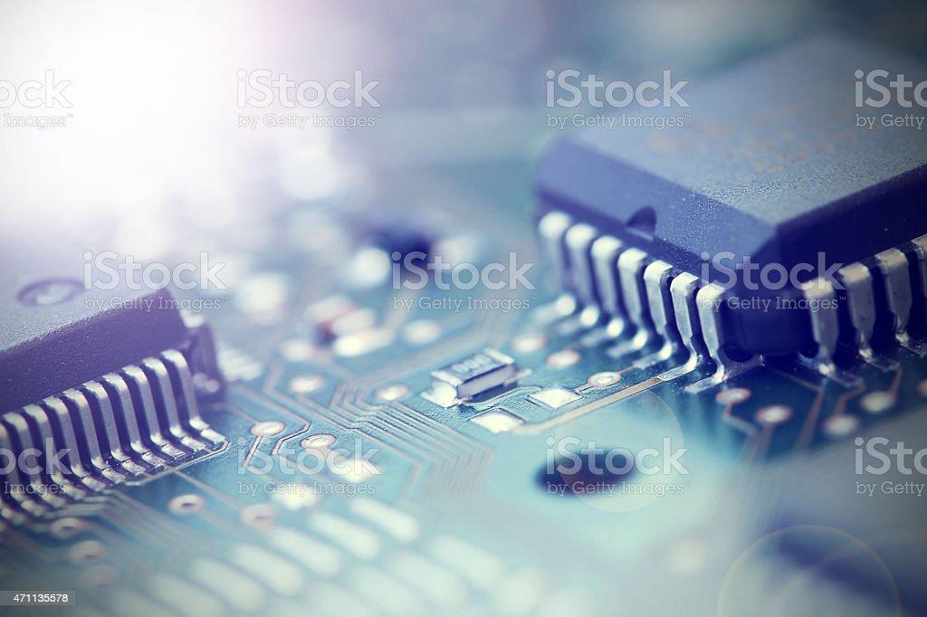 Electronic Board. stock photo