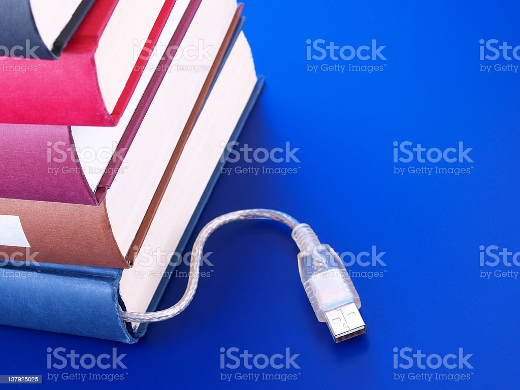 Electronic books royalty-free stock photo