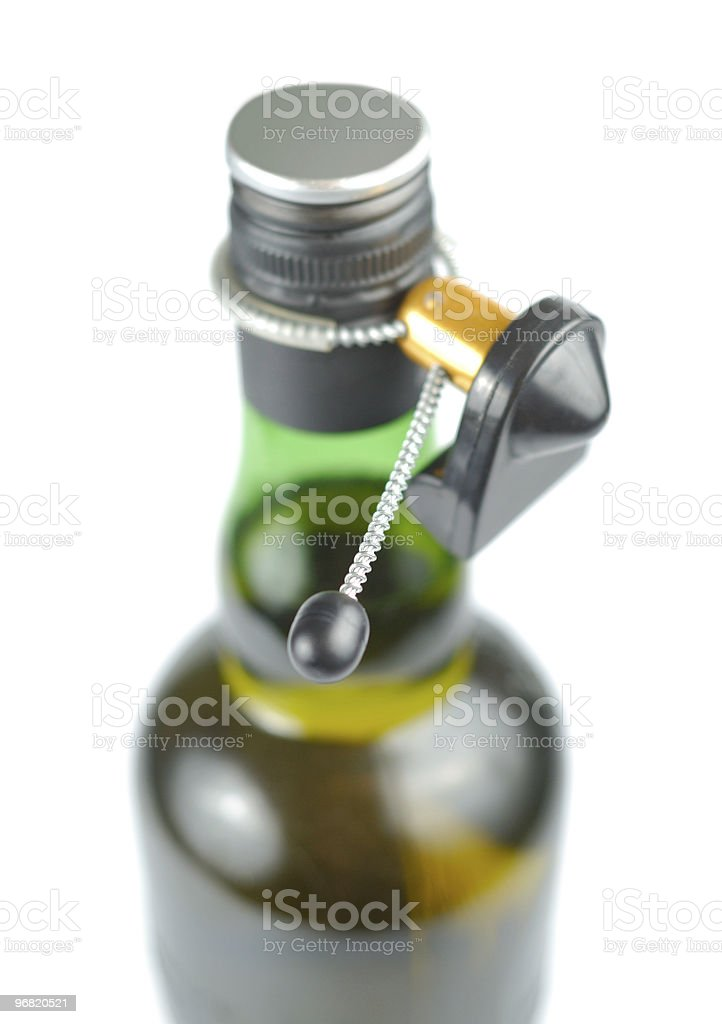 Electronic Bottle Tag royalty-free stock photo