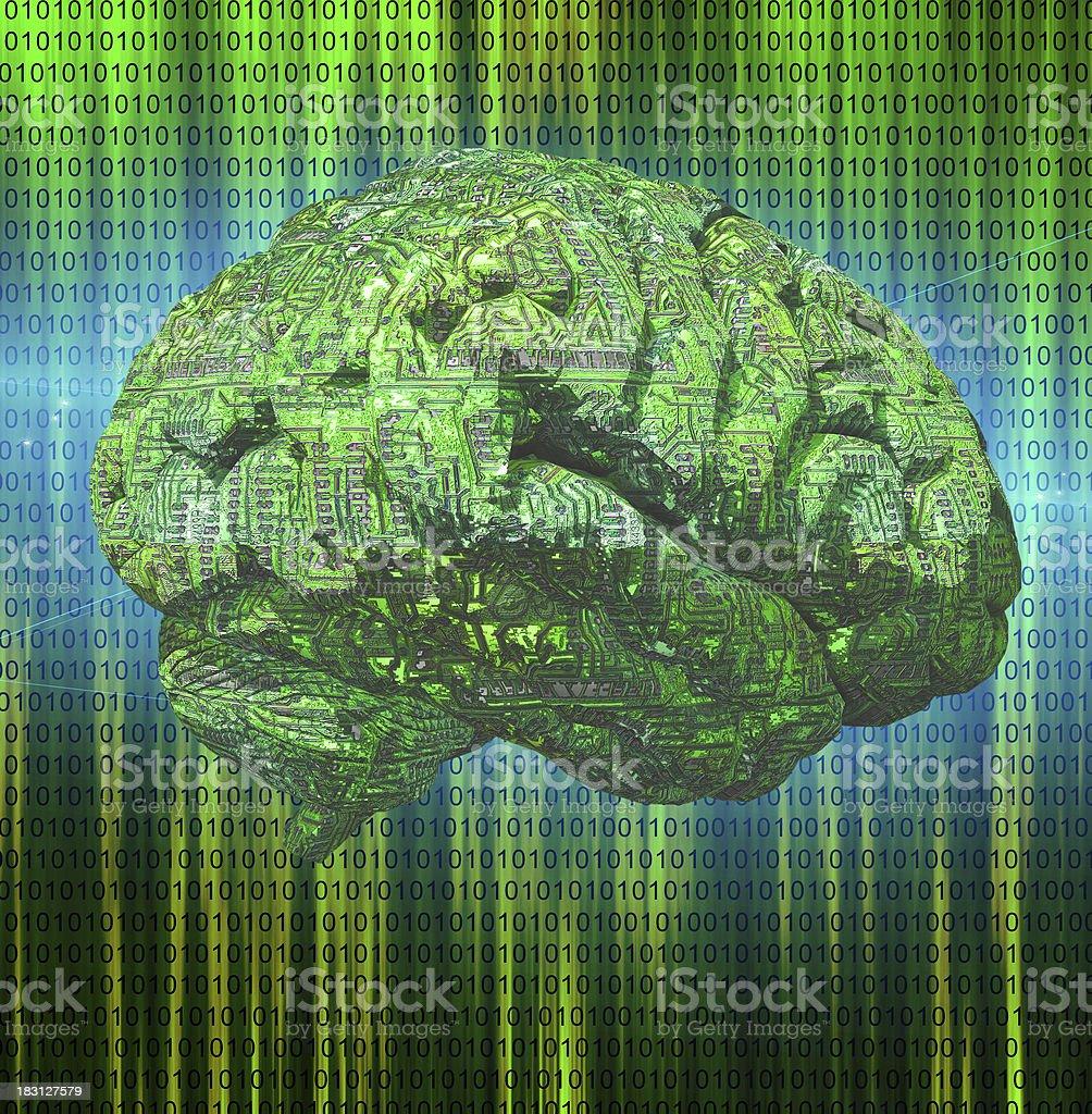 Electronic Brain royalty-free stock photo