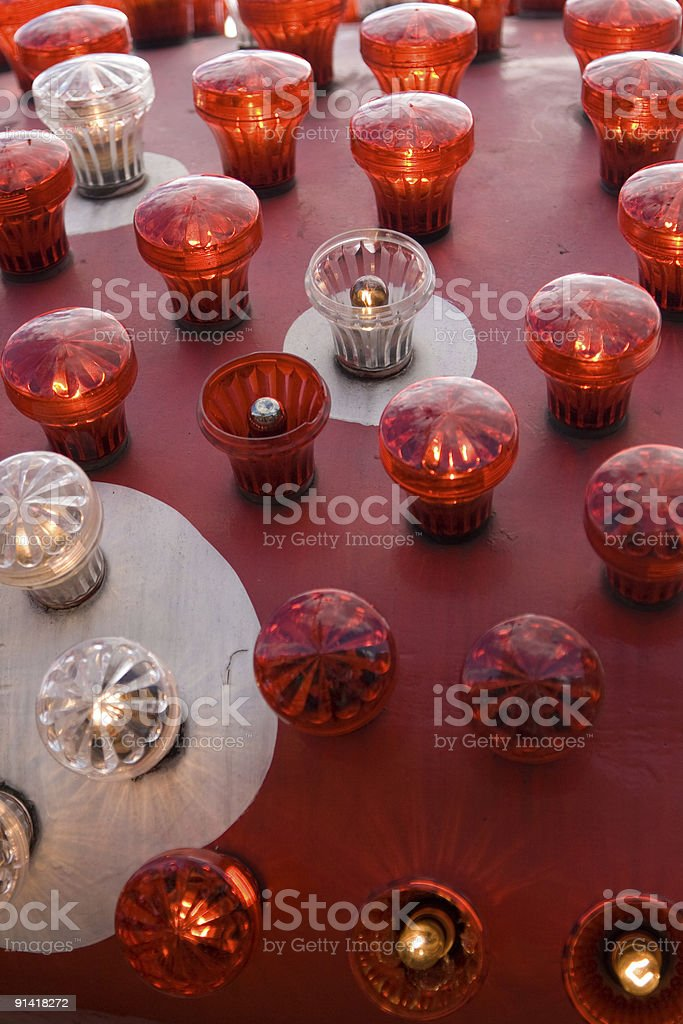 Electronic carnival lights royalty-free stock photo