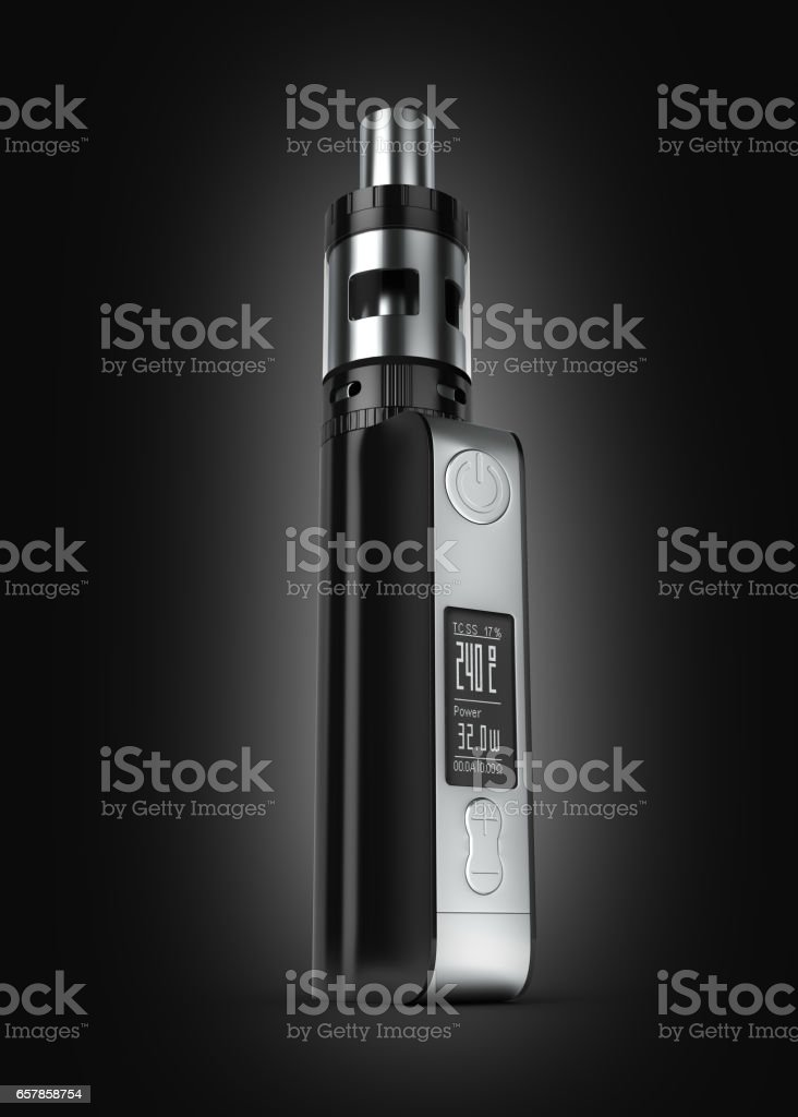 electronic cigarettе box mode on black gradient background 3d stock photo