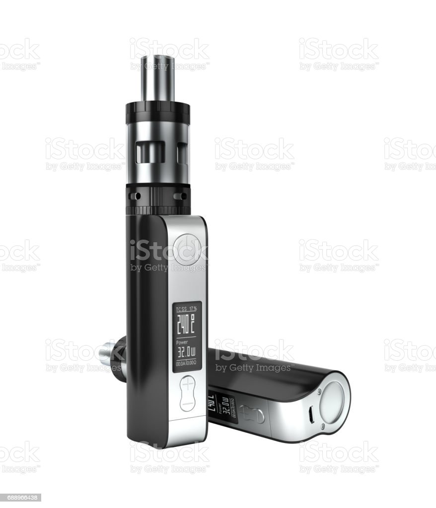 electronic cigarettе box mode without shadow on white background 3d stock photo