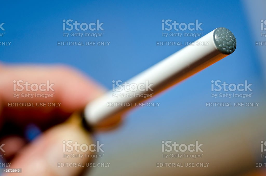 Electronic Cigarette or E-Cigarette stock photo
