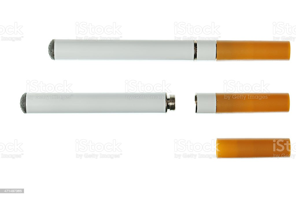 Electronic cigarette with cartridges royalty-free stock photo