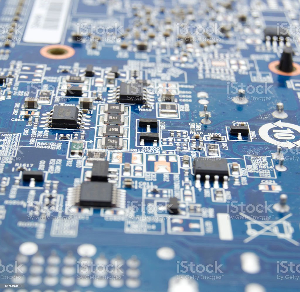 Electronic circuit abstract royalty-free stock photo