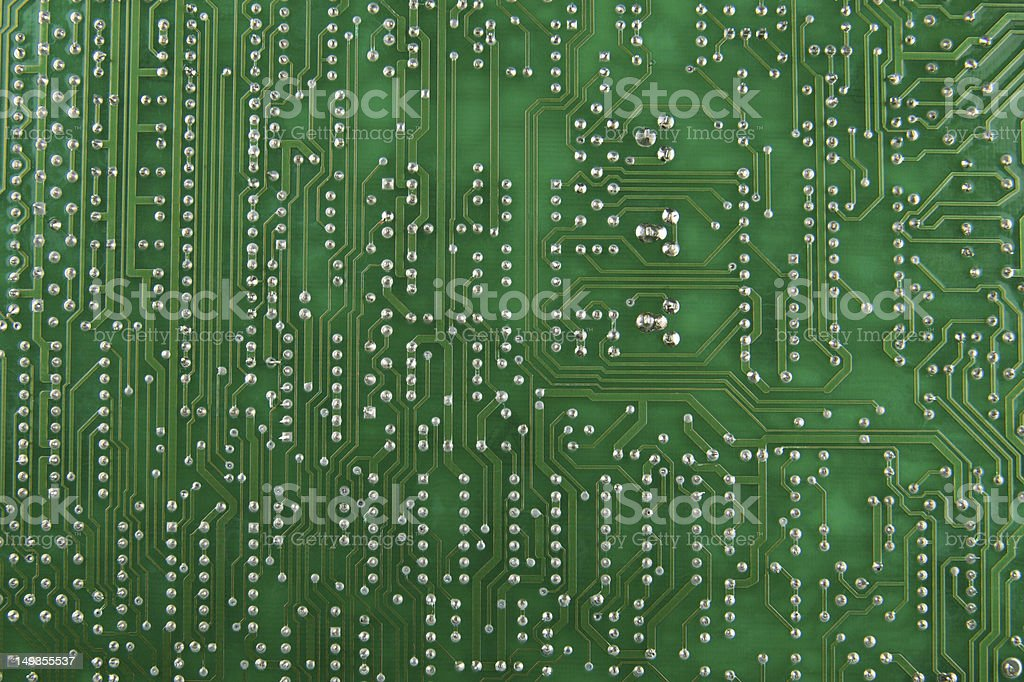 Electronic circuit board as background royalty-free stock photo