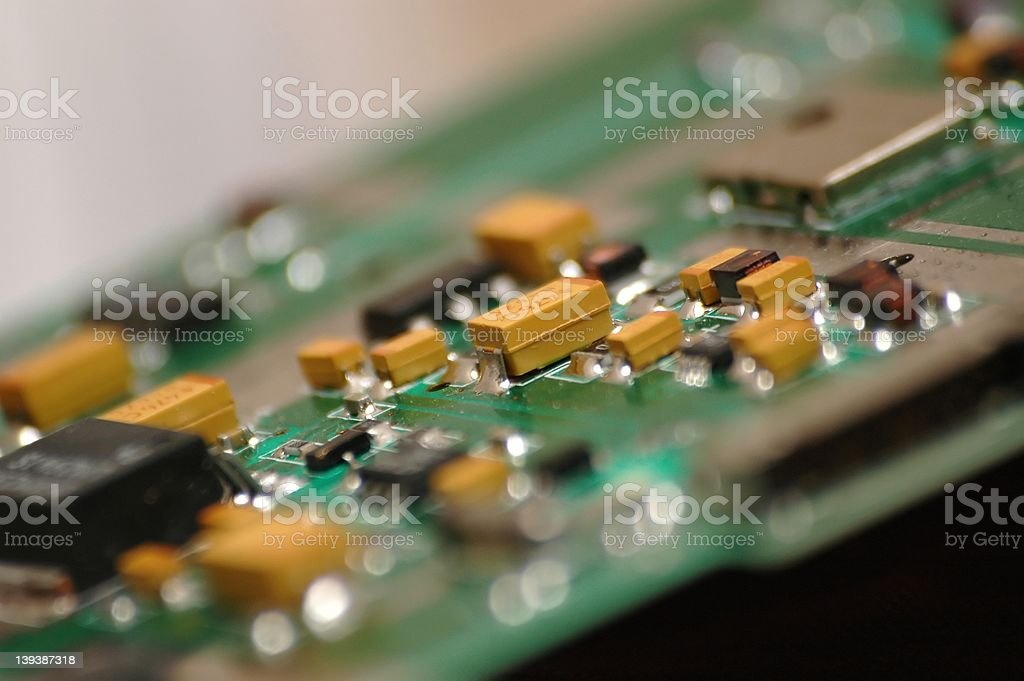 Electronic circuit board royalty-free stock photo