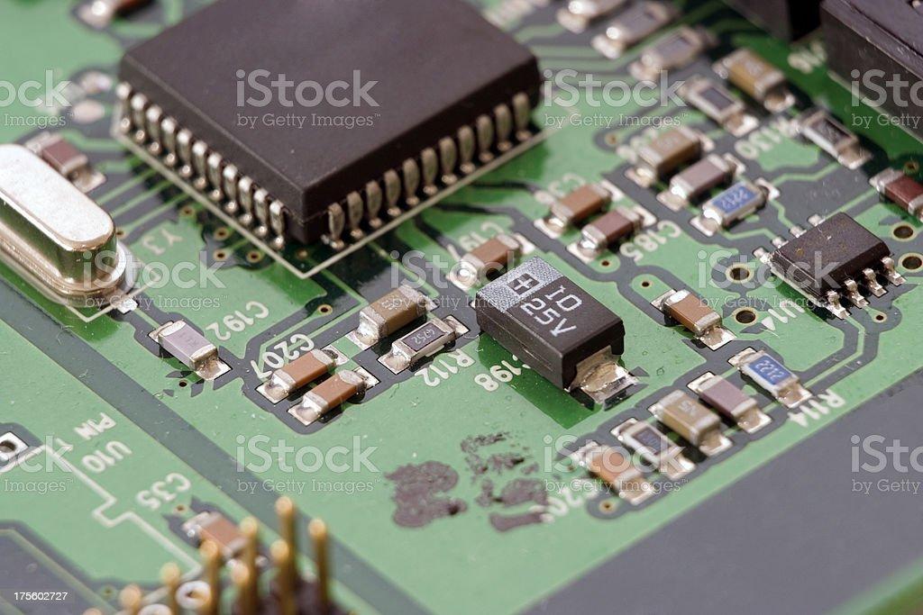 Electronic Circuit Board #1 royalty-free stock photo