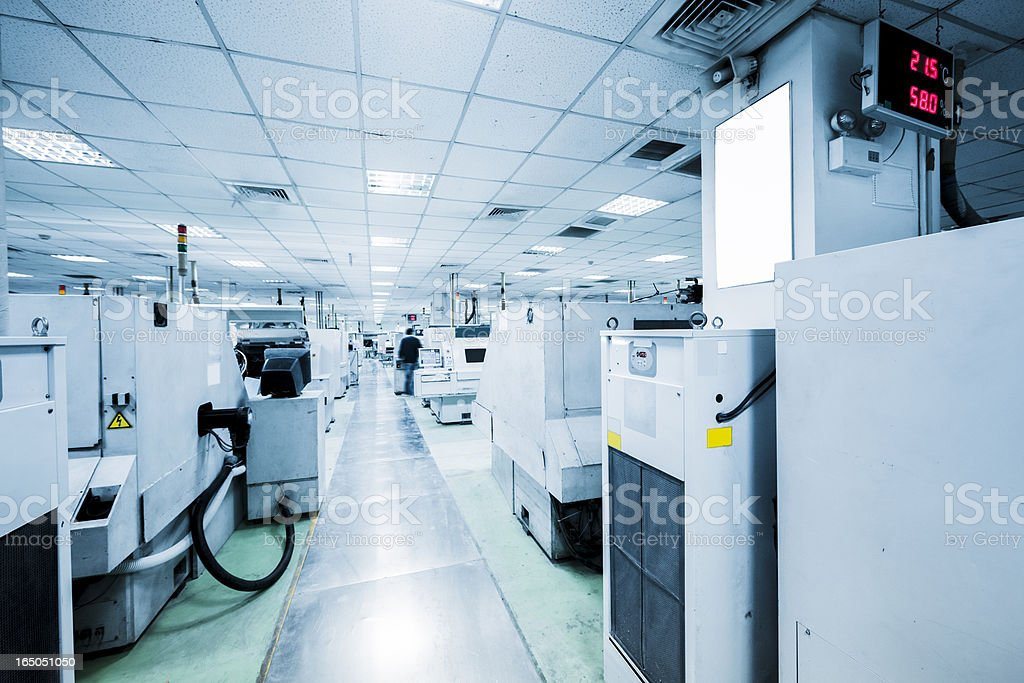 Electronic Circuit Boards plant stock photo