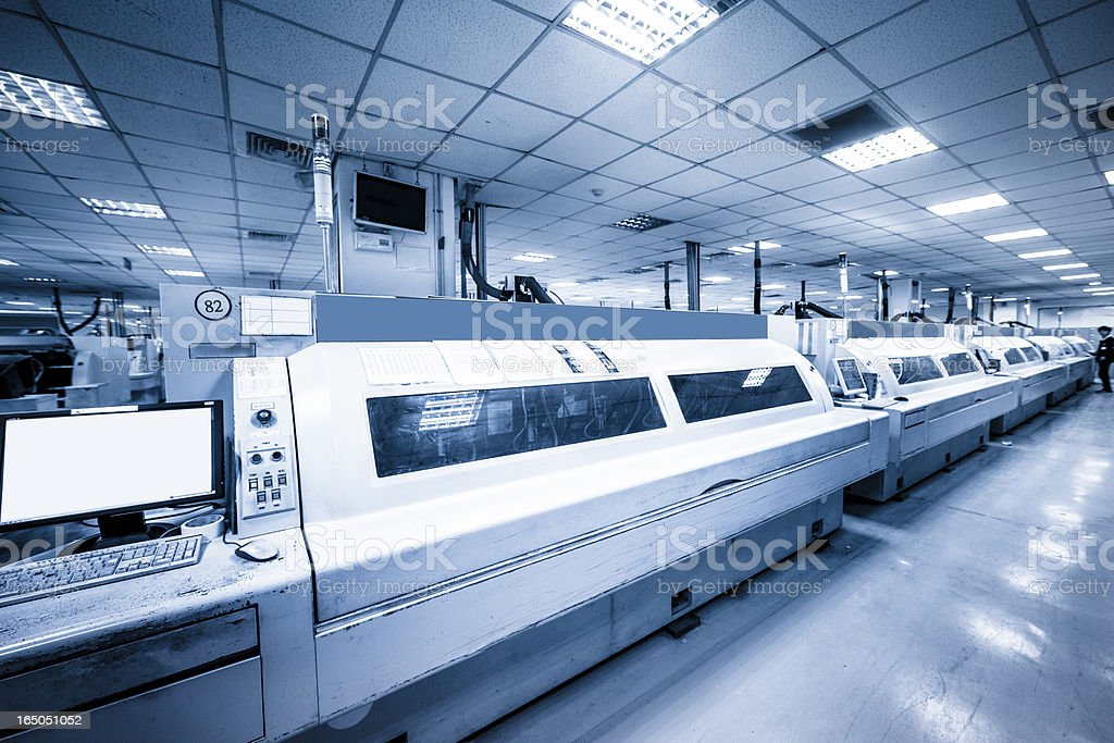 Electronic Circuit Boards plant royalty-free stock photo