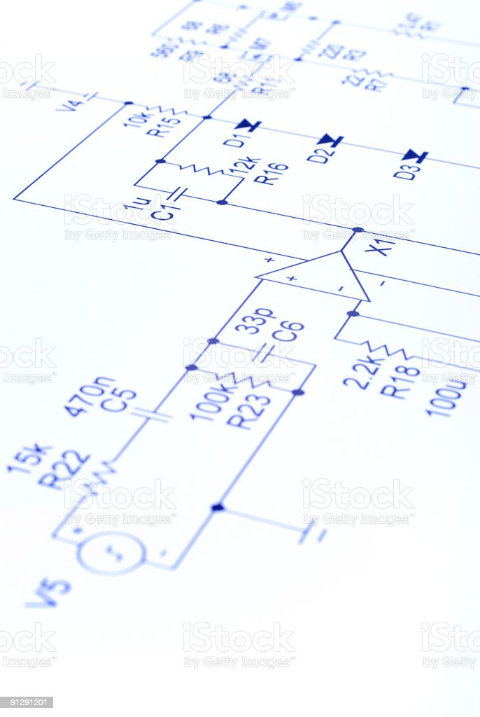 Electronic Circuit Diagram royalty-free stock photo