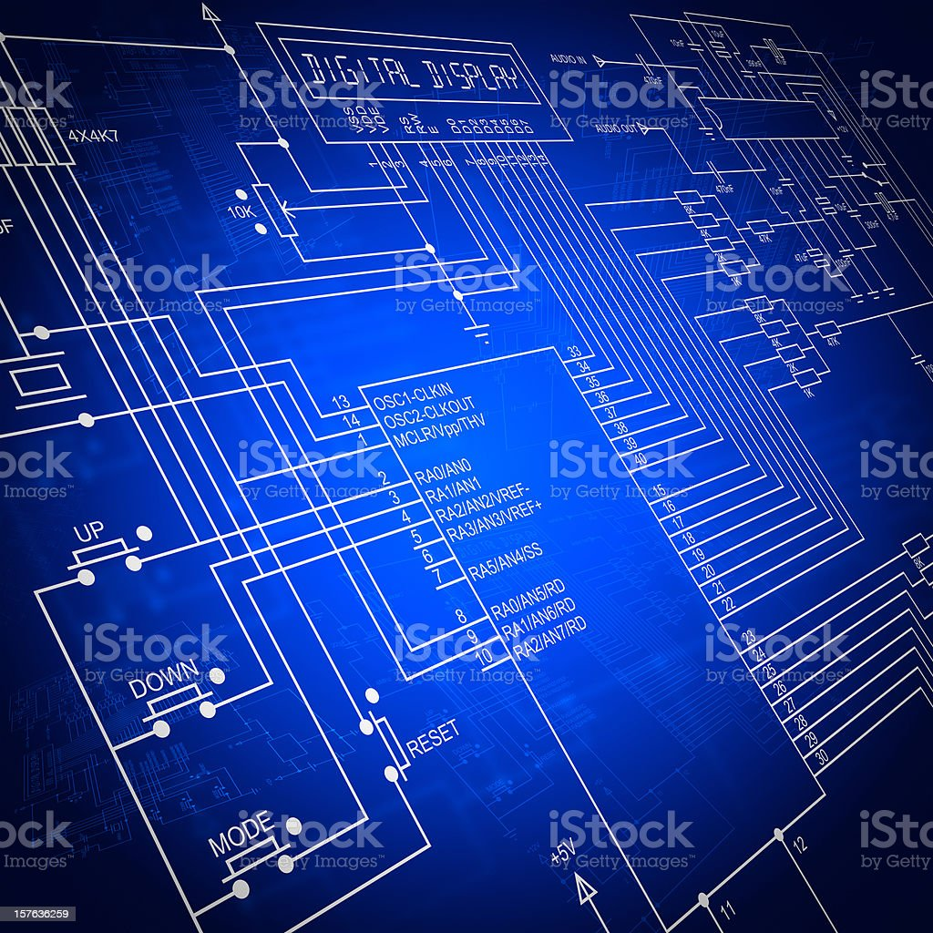 Electronic Circuit royalty-free stock photo