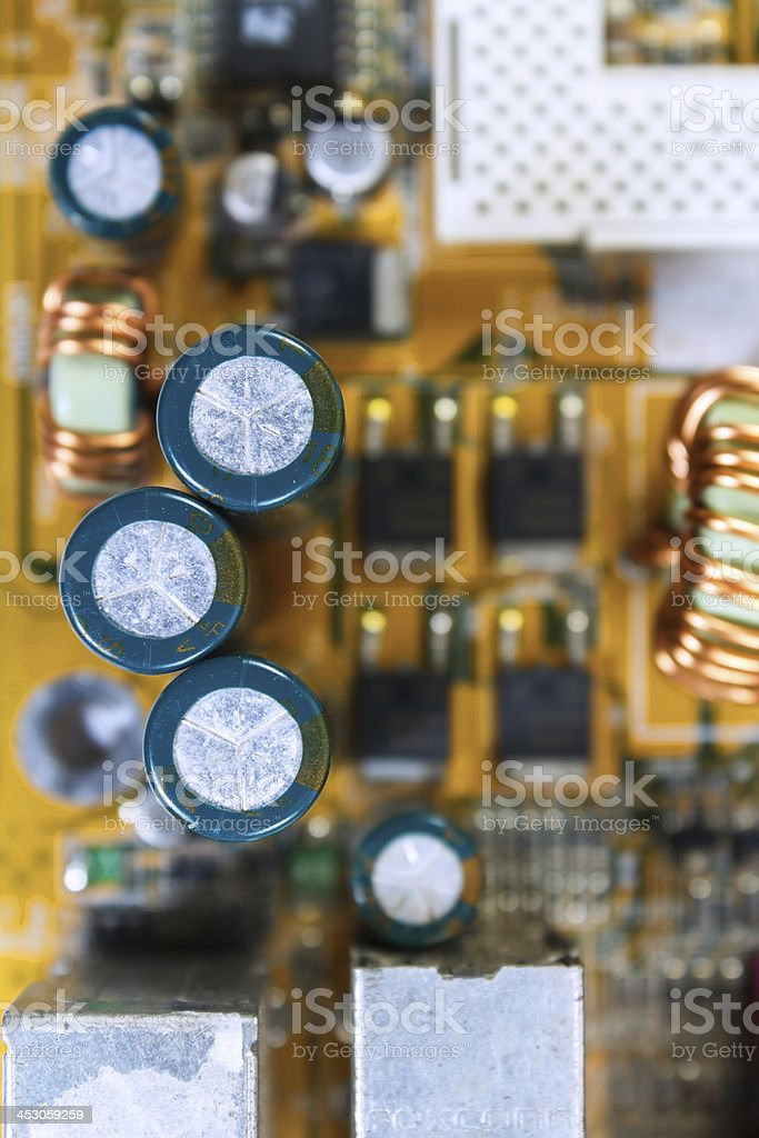 Electronic circuit royalty-free stock photo