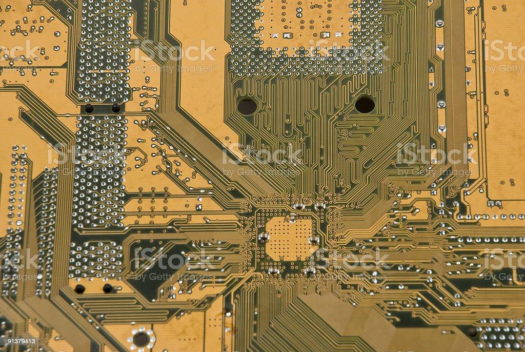 Electronic circuit stock photo