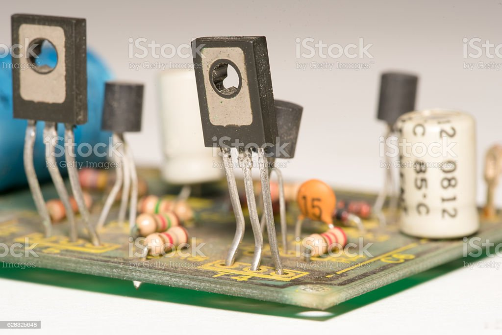 Electronic closeup stock photo