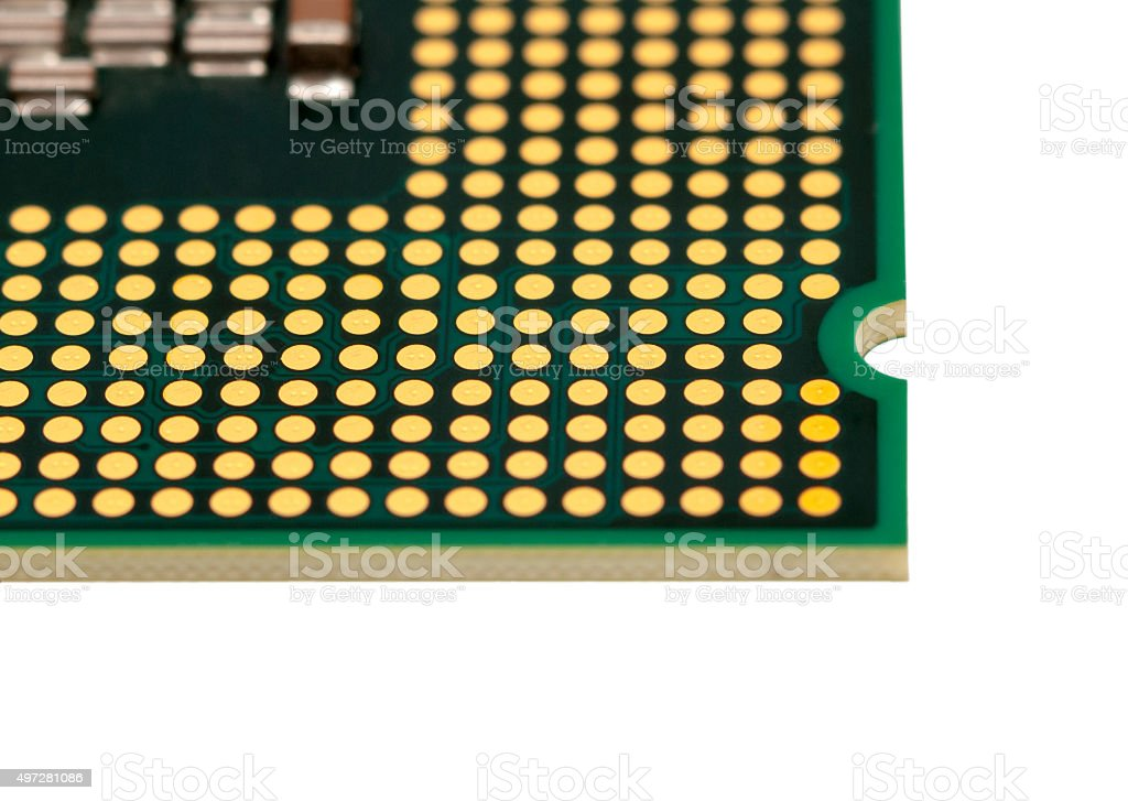 Electronic collection - Computer CPU isolated on white background stock photo
