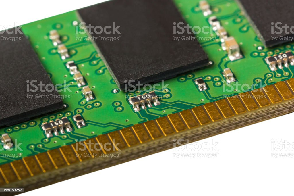 Electronic collection - computer random access memory (RAM) modules stock photo