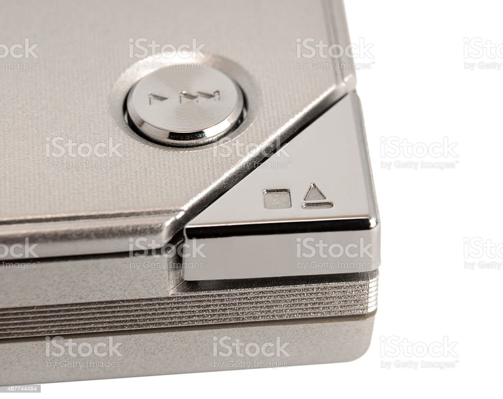 Electronic collection - Eject button stock photo