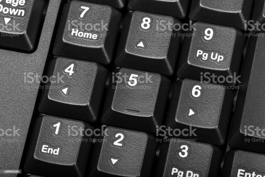 Electronic collection - numeric keypad on the computer keyboard stock photo