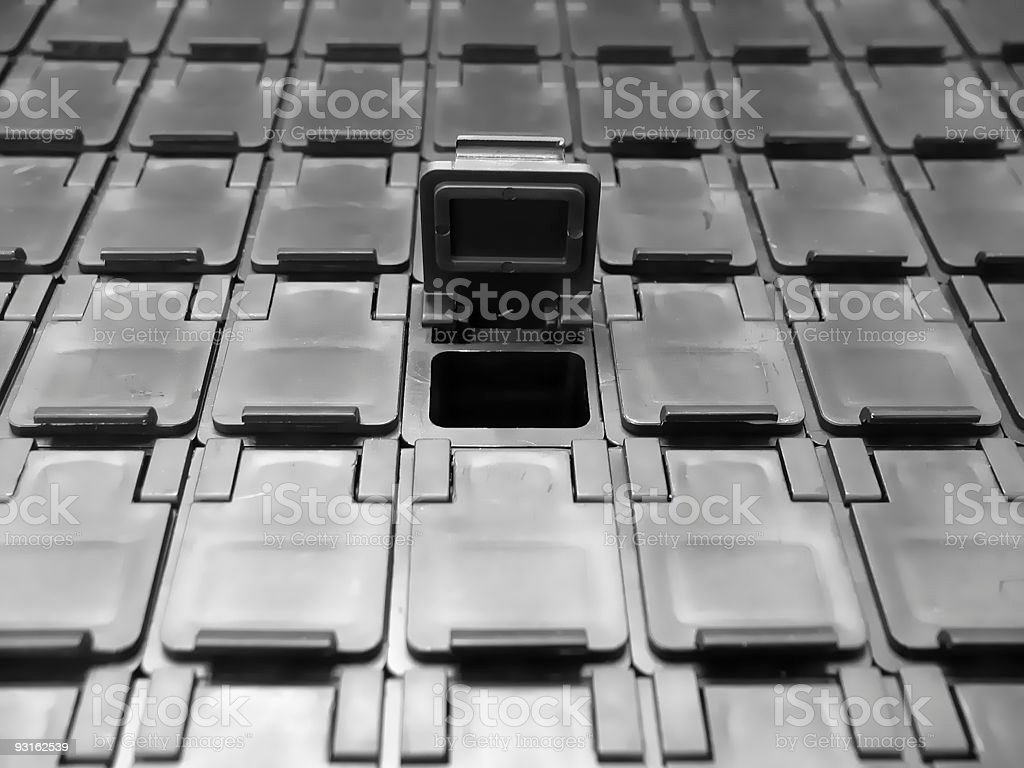Electronic component storage boxes stock photo